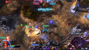 """Heroes of the Storm. My friends insist there's strategy to this, other then """"PUSH ALL THE BUTTONS!"""". A 3 to 1 death to kill ratio can't be wrong right? (yes, that's the joke)"""
