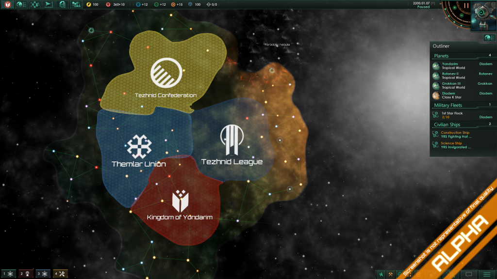 An overlook of the Galactic Map, where several empires are locked into a struggle for supremacy.