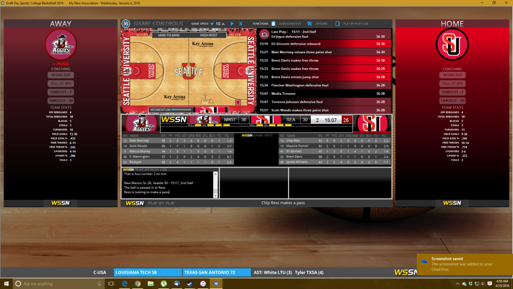 In-game footage is very similar to the Pro Basketball game, and offers a 2D game mode or Gamecast mode.