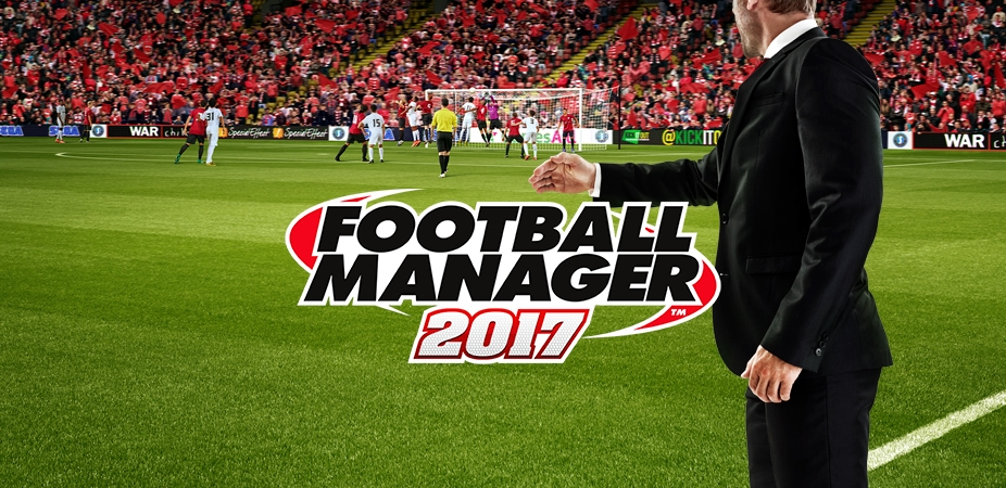 Pictured: The logo for Football Manager 2017. Not Pictured: The black hole where your free time will go when playing said game.